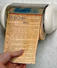 Constitution toilet paper Indiana Supreme Court dispenses with Magna Carta, Constitution
