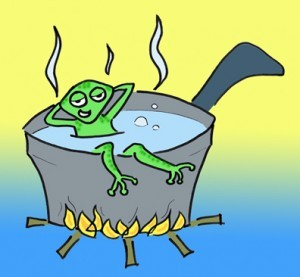 boiling frog 300x277 Boiling frog alert: Congress wants automatic wage deductions to pay down the debt