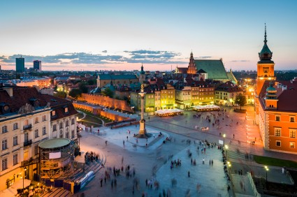 Old Town panorama of Warsaw