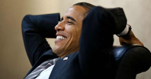obama laughing Obamas dumbest move to date... seizing a foreign bank??